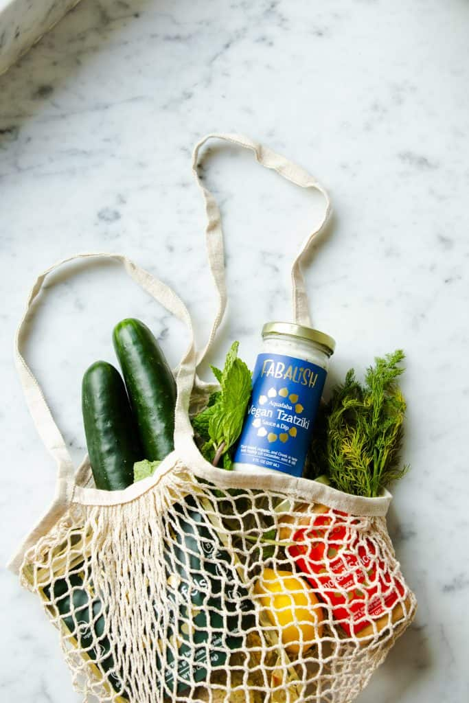 Bring or make your own grocery bags to be more sustainable.