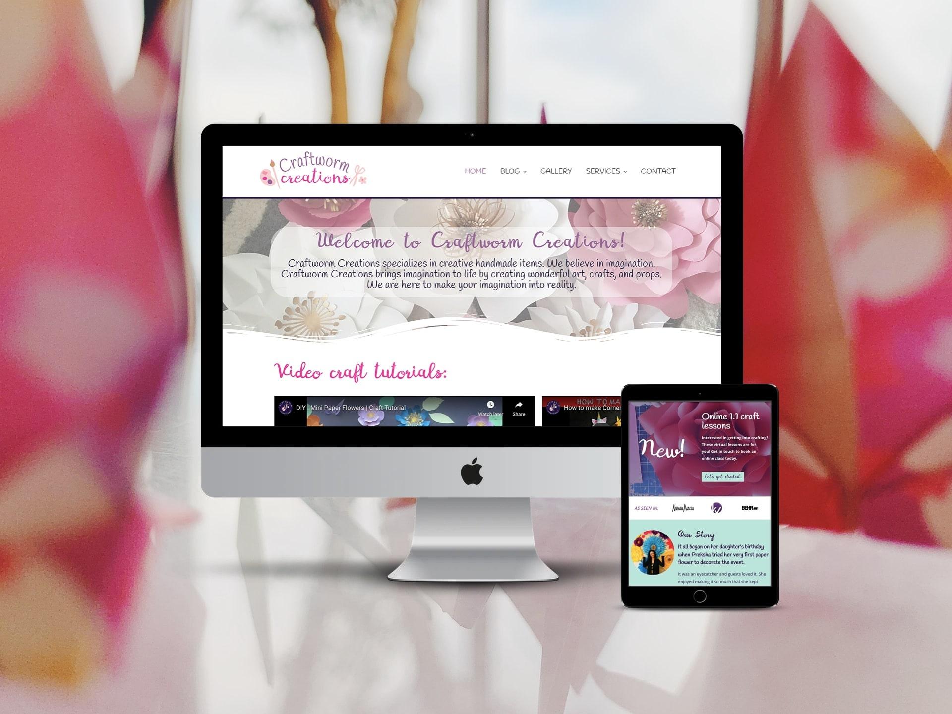 Craftworm Creations Website