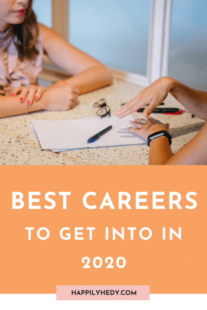 These are the 4 best careers to get in 2020 and the future. Post includes: career tips, how to get a job in 2020, job finding tips, resume, best jobs for the future.