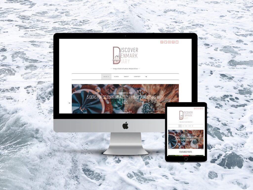 lifestyle mom blog website design, denmark