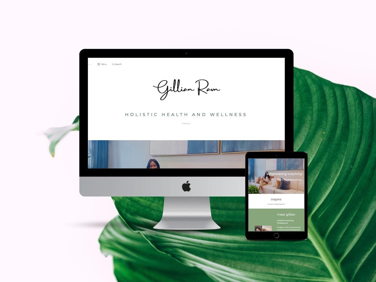 website design for wellness coach